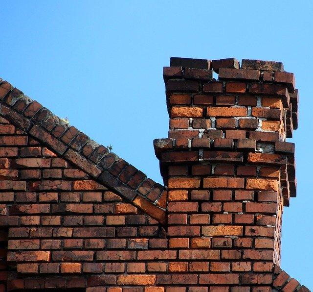 chimney with loose bricks